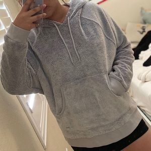 Hollister Fuzzy Gray Hoodie
